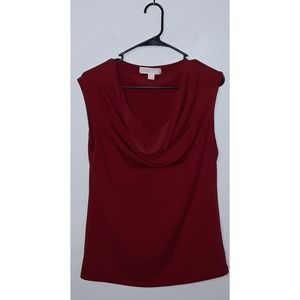 M Michael Kors Red Sleeveless Cowl Neck Top